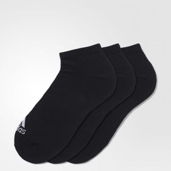 Meias Perf. No-Show Thin 3PP Adidas - Preto