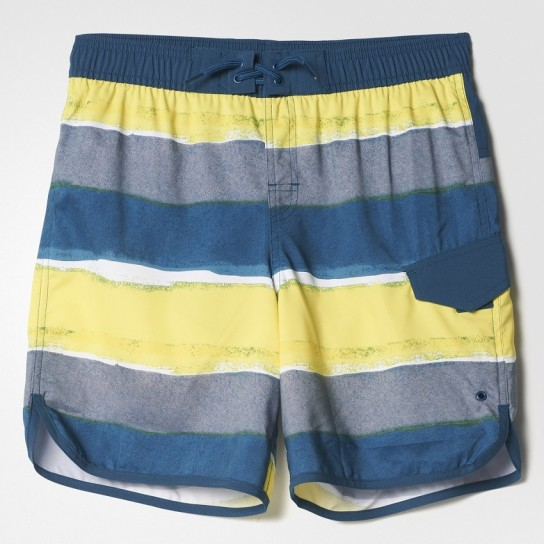 Calção Stripes Cl Adidas - Amarelo