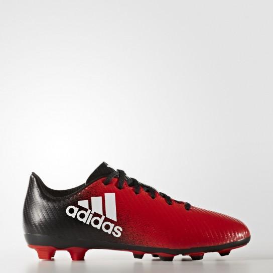 Adidas X 16.4 FXG J - Vermelha/Preta