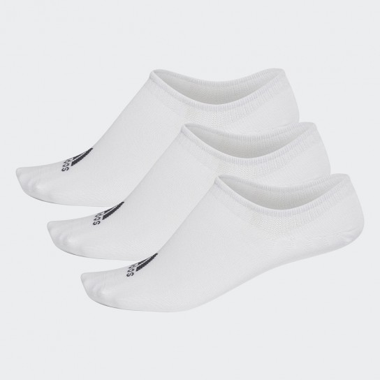 Meias Adidas Performance Invisibles 3P - Branco