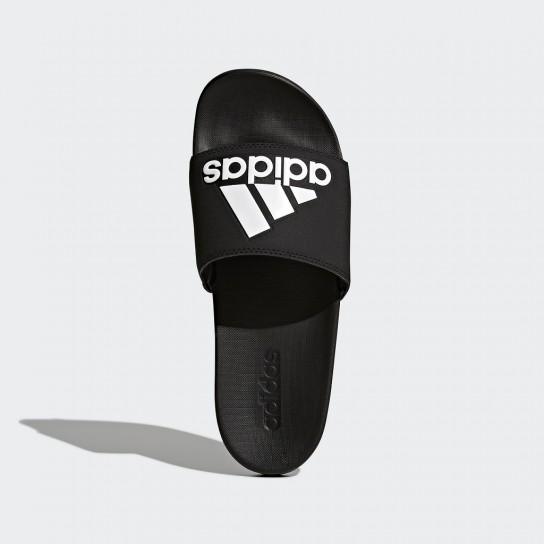 Chinelo Adidas Adilette Cloudfoam Plus Logo Slides - Preto