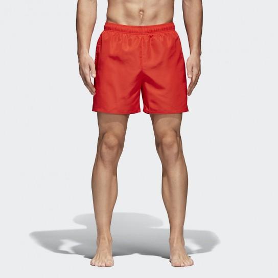 Calção praia Adidas Solid - Vermelho