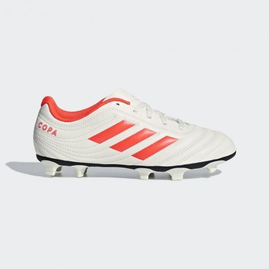 Adidas Copa 19.4 FG J - Branca/Laranja