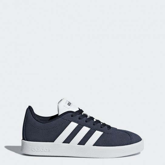 Adidas VL Court 2.0 K - Azul/Branco