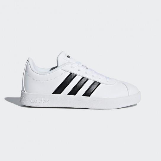 Adidas VL Court 2.0 K - Branco/Preto