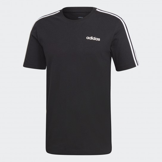 T-shirt Adidas Essentials 3 Stripes - Preto