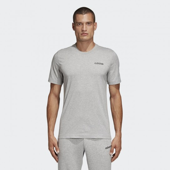 T-shirt Adidas Essentials Plain - Cinzento