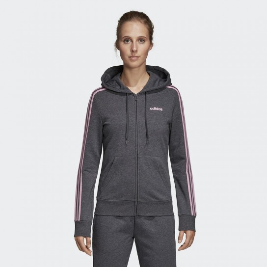 Casaco Adidas Essentials 3 Stripes Full Zip - Cinzento