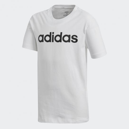 T-shirt Adidas YB Essentials Linear - Branca
