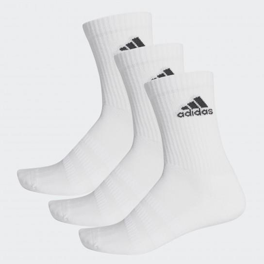 Meias Adidas Cush CRW 3PP - Branca