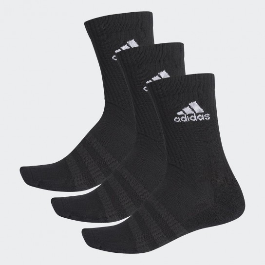 Meias Adidas Cushioned Crew 3Pairs - Preto