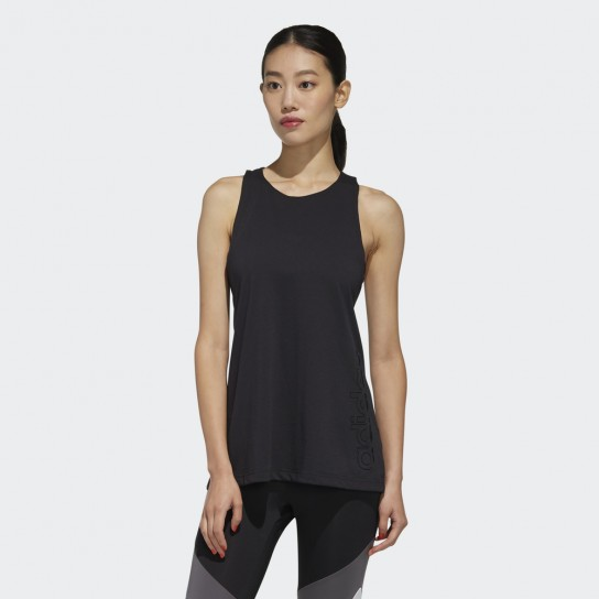 Top Adidas Women D2M Branded TK - Preto