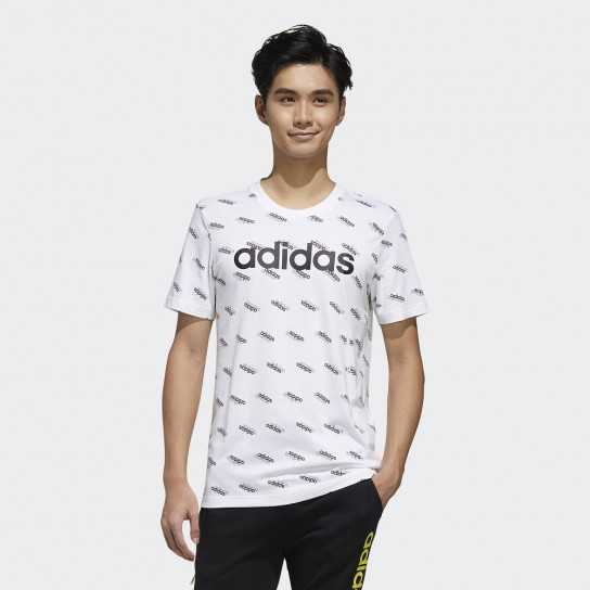 T-shirt Adidas Men Favourites - Branco