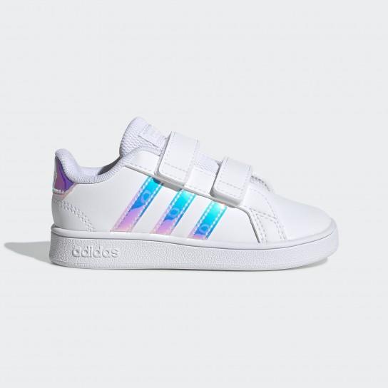 Adidas Grand Court Inf - Branco/Holográfico