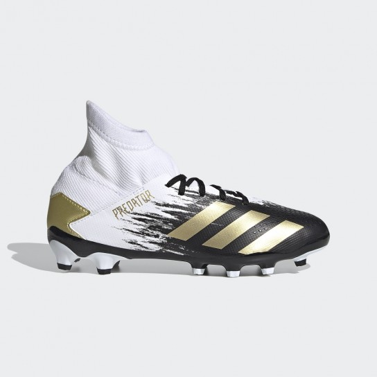 Adidas Predator 20.3 Mg J - Branca/Preta