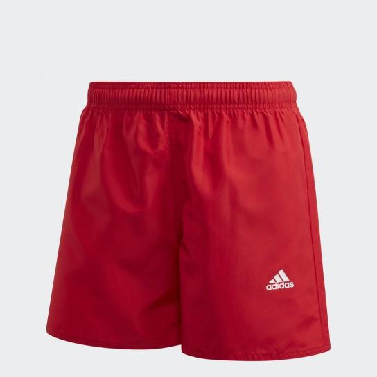 Calção Adidas Classic Badge of Sports JR - Vermelho