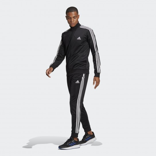 Fato de Treino Adidas M 3 Stripes - Preto
