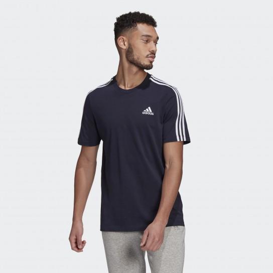 T-shirt Adidas Essentials 3 Stripes - Azul