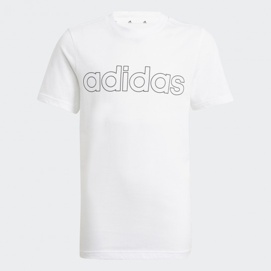 T-shirt Adidas Boys Essentials Logo - Branca