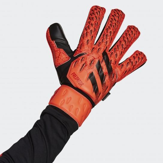 Luvas Guarda Redes Adidas Predator Match Fingersave - Vermelho
