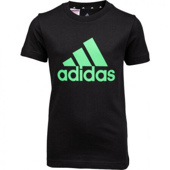 T-shirt Adidas Boys Essentials Big Logo - Preto/Verde