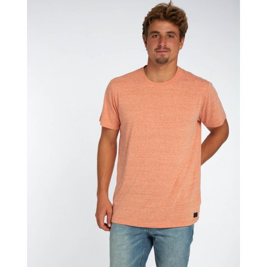 T-shirt Billabong All Day Crew - Dark Orange