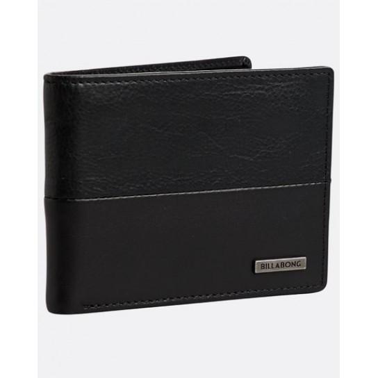 Carteira Billabong Fifty50 ID Leather - Preto