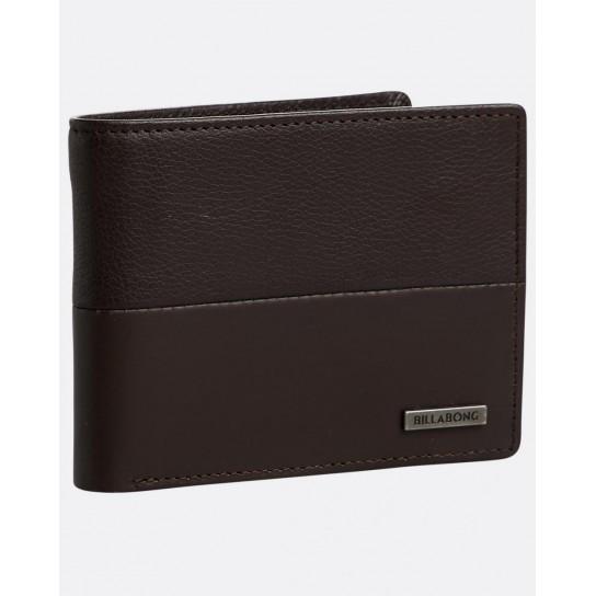 Carteira Billabong Fifty50 ID Leather - Chocolate