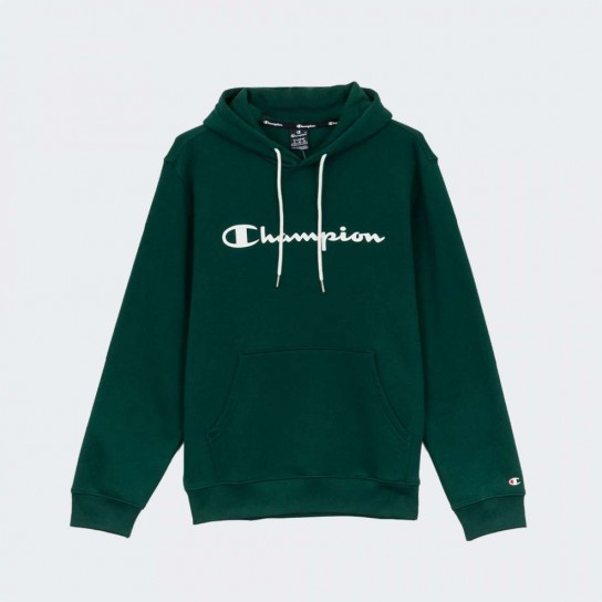 Sweat Champion Hooded Big Logo - Verde