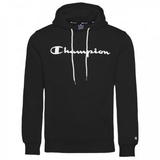 Sweat Champion Hooded Big Logo - Preto