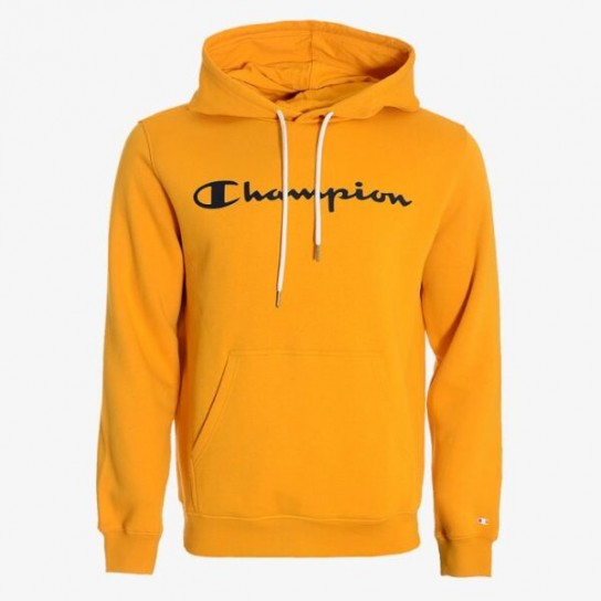 Sweat Champion Hooded Big Logo - Amarelo
