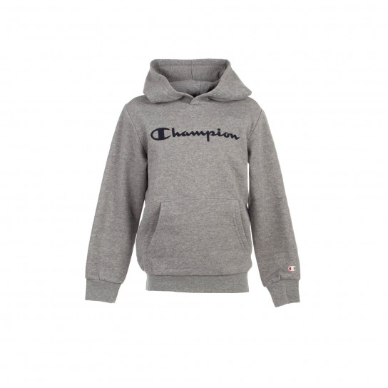 Sweat Champion Hooded Jr - Cinzento