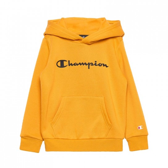 Sweat Champion Hooded Jr - Amarelo