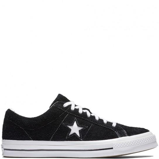 Converse One Star Ox Premium Suede - Preto/Branco