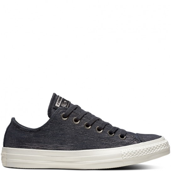 Converse All Star Ox Precious Metal Suede - Black/Metal