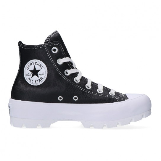 Converse All Star Lugged Hi Leather - Preto