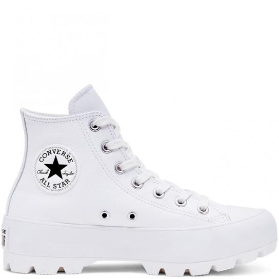 Converse All Star Lugged Hi Leather - Branco