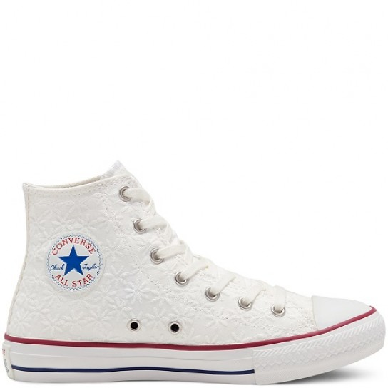 Converse All Star Hi - White Garnet