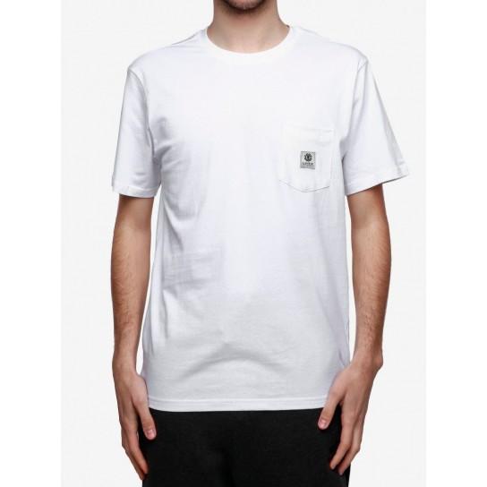 T-shirt Element Basic Pocket Label - Branca