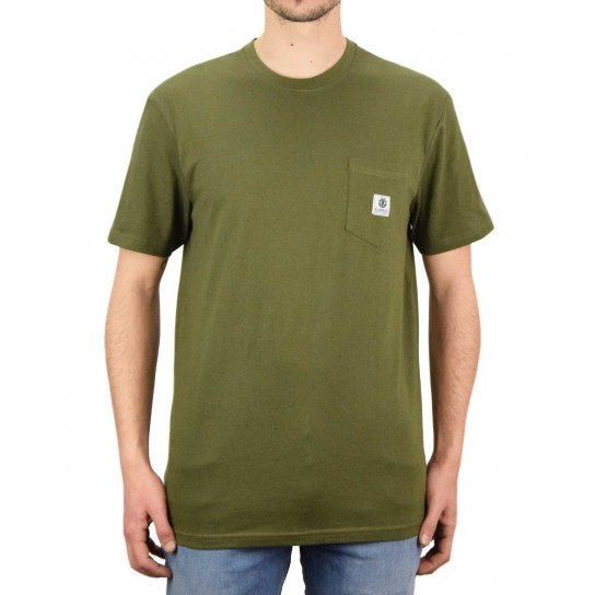 T-shirt Element Basic Pocket Label - Army
