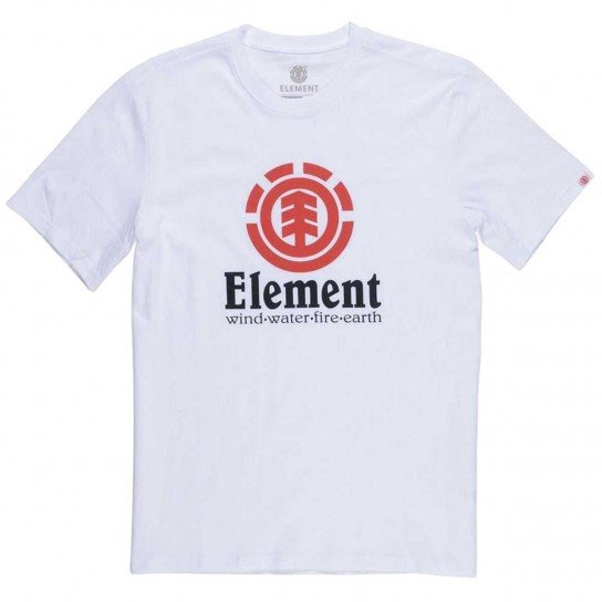 T-shirt Element Vertical - Optic White