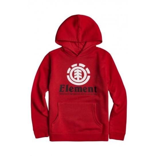 Sweat Element Vertical Hood Boy - Vermelha