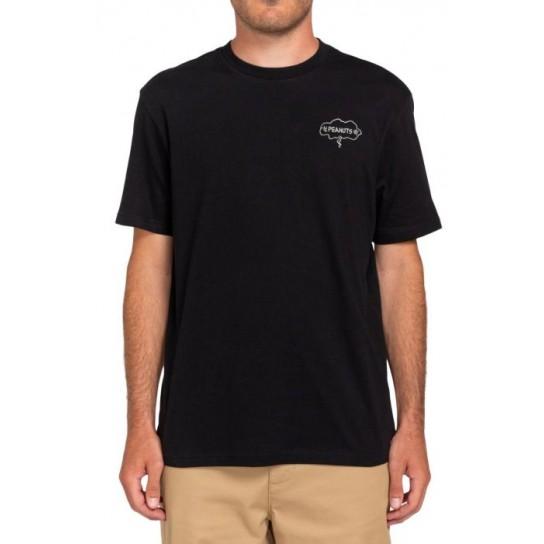 T-shirt Element Peanuts Slide - preto