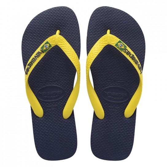 Havaianas Brasil Logo - Azul/Amarelo