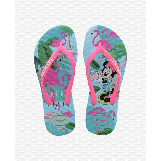 Havaianas Slim Kids Disney Cool - Ice Blue/Rosa