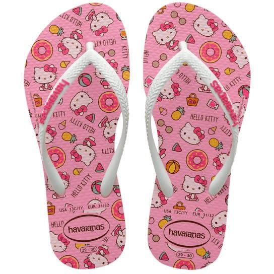 Havaianas Slim Kids Hello Kitty - Rosa
