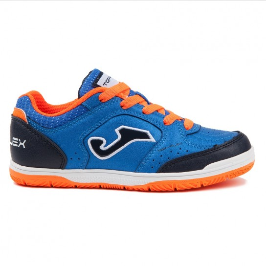 Joma Top Flex Jr 804 Royal Indoor - Azul/Laranja