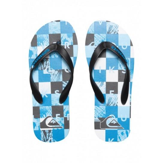 Chinelo praia Quiksilver Molokai Check Remix Jr - Azul