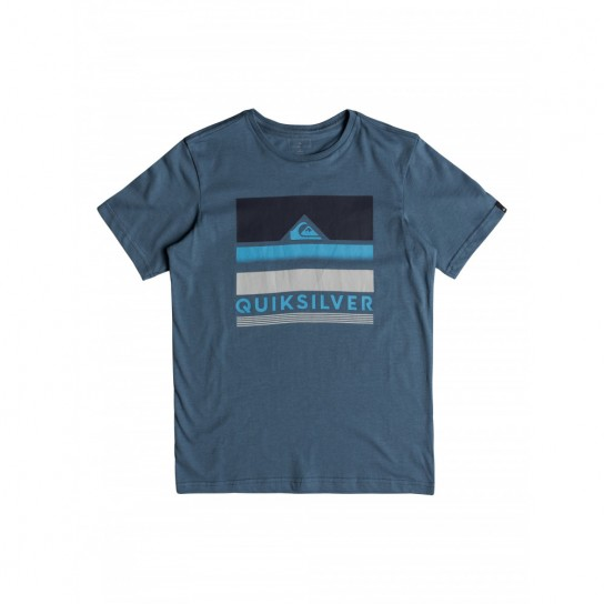 T-shirt Quiksilver Loud Places Jr - Azul