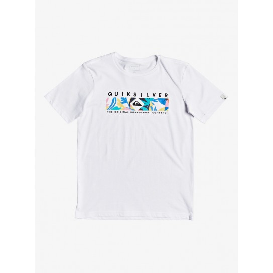 T-shirt Quiksilver Distant Fortune Jr - Branca